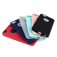 Solid Candy Color TPU Rubber Case Cover for Iphone SE 5s 5 Silicon Glossy Back Cover for Iphone 5