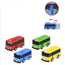 4Pcs/Set  Tayo Scale Model Car Tayo Children Miniature Bus Mini Plastic Babies Toys Tayo Bus kids Christmas Gift/Toy