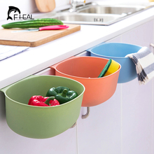 FHEAL Multifunction Cabinet Doors Hanging Storage Box Kitchen Garbage Can Bathroom Cosmetic Organize Container Desktop Trash Bin(China)