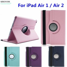SZEGYCHX , Tablet Case for iPad Air 1 / Air 2 New Case 360 Rotation Flip PU Leather Smart Case Cover with Stand Function