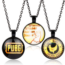 Buy Hot Game Jewelry Playerunknown's Battlegrounds PUBG LOGO Glasses Pendants Necklaces Beads Chain Choker Necklace Man Women for $3.80 in AliExpress store