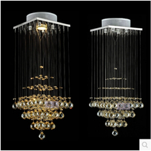 Free shipping modern crystal chandeliers led lamps living room dining room K9 Crystal chandelier led luster light /lustre lamps