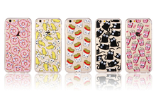 Luxury Soft TPU 3D Cute Cartoon Eyes Move Mouse Cat French fries Popcorn Phone Cases Cover For iphone SE 5 5s 6 6s Plus 7 7 plus