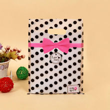 Gift Bags Handles Plastic Bag For Clothes Storage Bag Party Supplies Shopping Bag Packaging Wedding Decoration 15*20 20*26 25*35