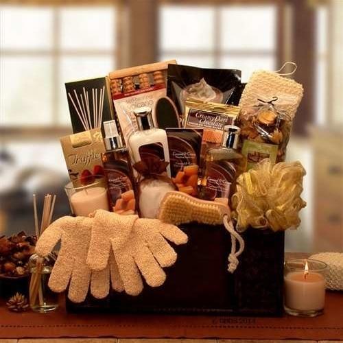 Gift Basket Drop Shipping 8413592 Caramel Spa Treasures Gift Chest (1)