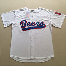 Free shipping Gefex 17 Remer 44 Joe Cooper BASEketball Milwaukee Beers Movie Button Down Jersey Stitched Throwback Baseball(China)