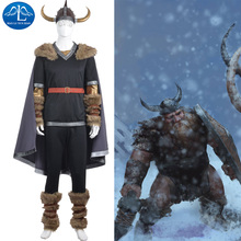 MANLUYUNXIAO New Men's Outfit Game Character Viking Warrior Costume Halloween Cosplay Costumes for Men Wholesale Custom Made