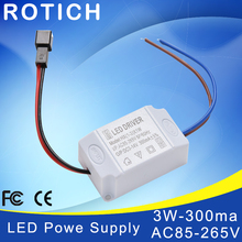 High quality AC 85V-265V to DC 3V-14V 300mA LED Strip Lighting Electronic Transformer LED Power Supply Driver Adapter 3X1W