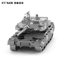 Finger Rock 3D Metal Puzzle DIY Model Tiger Tank Children Jigsaws Toys Present New Year Gift 4 Styles