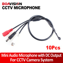 10pcs* Audio pick up CCTV Wide Range MIni CCTV Microphone for Camera Audio Surveillance DVR