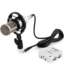 BM-800 Professional Studio Sound Condenser Microphone with Shock Mount Sound Card for Radio Broadcasting Recording(China)