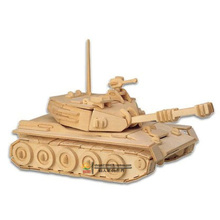 Children Toy 3D puzzles Woodcraft Wooden Construction Kit Wood Model Chariot Tank Puzzle toys(China)