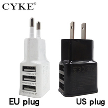 EU Plug type 5V 2A Travel Phone Adapters 3 Ports Wall Multiple USB Charger For iPhone iPad for Samsung xiaomi EU/US Plug Charger(China)