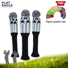 Golf Wood Headcover Knitted Pom Sock Covers 3pcs/set 1 3 5 For Golf Dirver/Fairway Golf Club Headcovers Accessories(China)