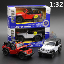 1:32 Wrangler off-road convertible Cars, alloy car model, gifts and toys for children, free shipping