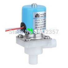 Normally Closed 12.5mm OD PP Plastic Electric 24V Solenoid Valve Water
