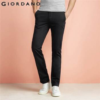 Giordano homens calças cáqui calças khaki pantalon homme casuais zíper frontal calças homens slim fit calças de algodão roupas de marca