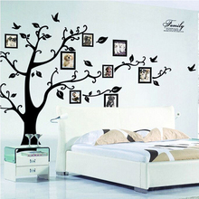 DIY Family Photo Frame Tree Wall Sticker Home Decor Living Room Bedroom Wall Decals Poster Home Decoration Wallpaper Mural Art(China)