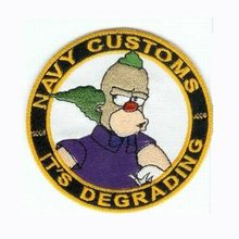 "High Quality embroidery emblem/Badges Make any items as client request 3"" twill with merrow border & PVC backing free shipping!"