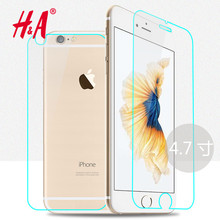 2Pcs Front + Back Tempered Glass For apple iPhone 4 4s 5 5s 6 6s plus Rear Screen Protector Anti Shatter Film Free Shiping