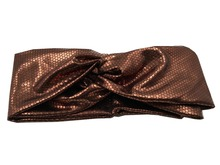T175309 2017Newest  fashion cool brown honeycomb pu leather turban headbands good stretch solid band hair fascinators for women