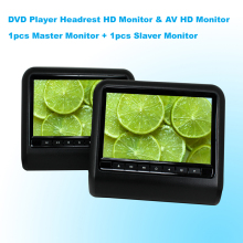 Car DVD Player Headrest Monitor 9 Inch(16:9) Digital LCD Monitor With USB SD Port Game & AV HD Monitor (One Pair)