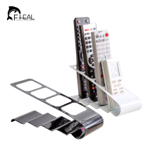 FHEAL Metal Four Lattice Remote Storage Rack TV DVD VCR Step Remote Control Mobile Phone Holder Stand Storage Organiser Tools