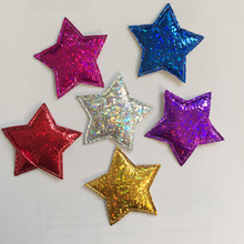 40PCS 29mm Padded pretty Flashing star Appliques / Scrapbooking craft making crafts A62A