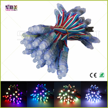 50pcs LED Lighting Modules 12mm led lumineuse luces DC5V full color WS2801/6803 pixel lights waterproof rgb led module strings