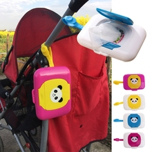 Portable Baby Wipe Case Box Easycarry Outdoor Stroller Kids Wet Wipes Dispenser Tissue Box Space Saving H06(China)
