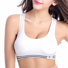 Professional sport bra absorb sweat quick drying fitness padded stretch workout bra gym training running tank top vest underwear(China)