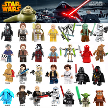 For Legoing Star Wars Figures Sith Trooper Grievous Han Solo Maz Anakin Darth Vader Yoda Starwars Building Blocks Toys Legoings(China)