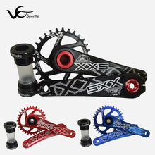 GXP bicycle crank chainwheel set sprockets bike crankset mtb gear disc threaded axis 11 speed mountain bike modify SNAIL 30T 32T(China)