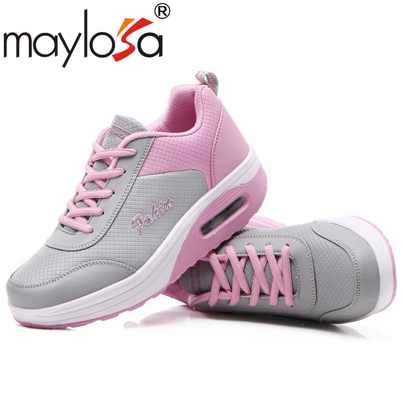 2017 Autumn New Design Women Height-Increasing Casual Shoes Fashion Women Lightweight Breathable Air Mesh Thick-soled Shoes<br><br>Aliexpress