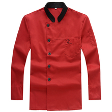 Chef Jacket Chef Wear Long Sleeved Autumn and Winter Hotel Chef Kitchen Restaurant Chef Uniform Clothing for Men and Women(China)