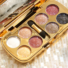 Brand 8 Colors Ultra Shining Glitter Eye Shadow Palette Makeup Brush Sets Waterproof Shimmer Eyeshadow Pigments Cosmetic(China)