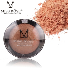 Miss Ross Metallic Bronzer Blush Palette Face Makeup Cheek Color Baked Blusher Color Professional Palete Blush Powder(China)