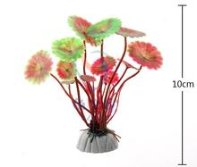 Free shipping10pcs / lot wholesale aquarium supplies, aquarium fish tank landscaping plants, water plants simulation 10cm height(China)