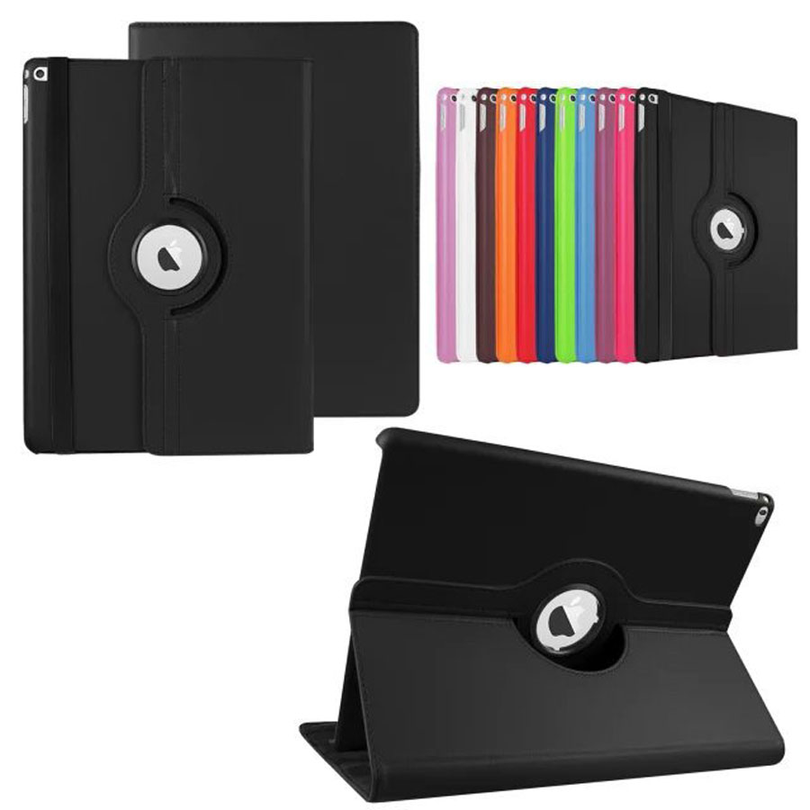 360 Degree Rotating Leather Stand Smart Cover Cases for 2018 iPad Pro 12.9 inch