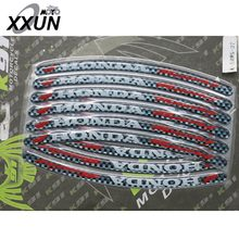 3D 3M Wheel Rim Stickers Decals Motorcycle Refit For HONDA CBR250 CBR400 CBR600RR F5 CBR6000 C700X/S NC750S/X