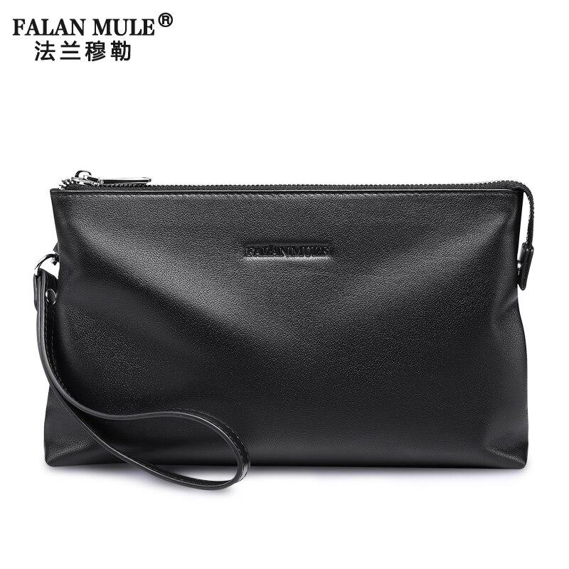 FALAN MULE New Brand Genuine Leather Wallet Men Cowhide Leather Clutch Men Wallets Card Holder Male Clutch Business Male Wallet<br><br>Aliexpress