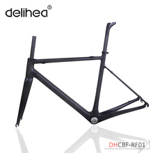 DeliHea Customized Paint Road Bicycle Carbon Frame,Aero Bike Frame OEM Factory Directly Sale,Carbon Bike Frame(China)