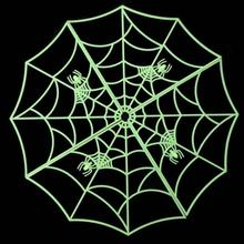 New Halloween Spider Web Luminous PVC Home Bar Decoration Sticker Halloween Accessory Dropshipping Halloween Supplies Hot Sale