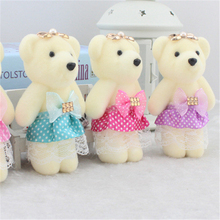 Fresh dolls elegant joint bears supplies teddy bear toys plush bouquet packaging material 10pcs/lot free shipping