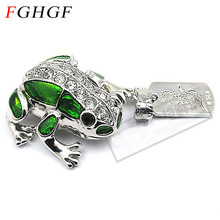 FGHGF metal frog crystal usb flash drive pendrive 4GB 8GB 16GB 32GB memory stick U disk USB 2.0 free shipping