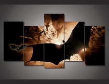 5 Pieces/set New canvas art Fashion Paintings Fallout Betmen Nachalo Batman Begins Painting On Canvas Room Decoration