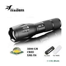 5 Modes CREE XM L2 T6 3800LM Led Flashlight Waterproof Zoomable Torch lights lantern for 18650 Rechargeable Battery or AAA