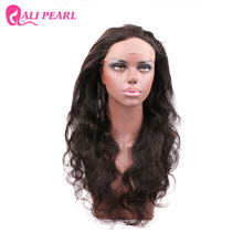 AliPearl Hair Brazilian Body Wave Pre Plucked 360 Lace Frontal with Baby Hair Human Hair Natural Hairline Remy Free Shipping