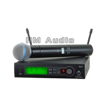 SLX24 BETA58 UHF Wireless Microphones single handheld Karaoke wireless microphone Vocal Microfone System(China)