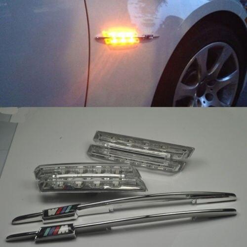For BMW M E90 E91 E92 E93 E81 E88 E60 LED Clear Side Marker Lights Turn Signals<br><br>Aliexpress